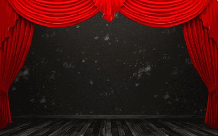 opulent: vector red velvet curtain stage