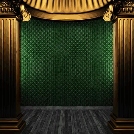 vector bronze columns and wallpaper Vector