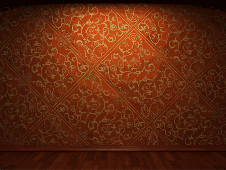 dirty room: vector illuminated fabric wallpaper background