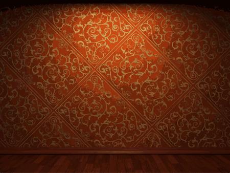 antiek behang: vector verlichte stof wallpaper achtergrond Stock Illustratie