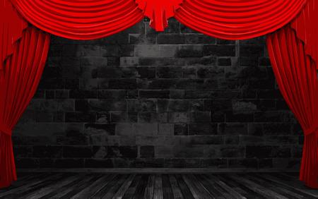 velvet: vector red velvet curtain stage