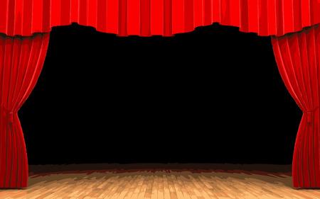 velvet: vector Red velvet curtain opening scene