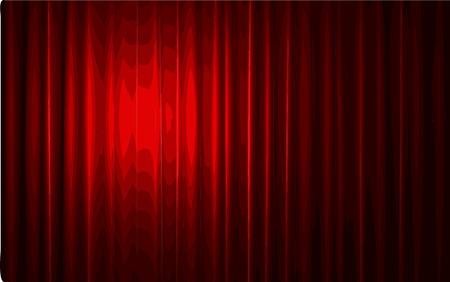 carmine: vector red velvet curtain stage