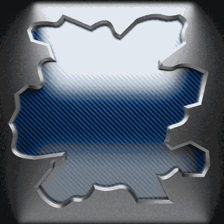 plastic: vector metaal op plastic achtergrond Stock Illustratie