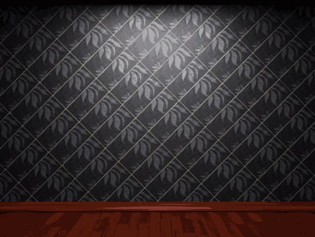 vector illuminated tile wall background Vector