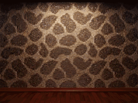 tile wall: illuminated tile wall background Illustration