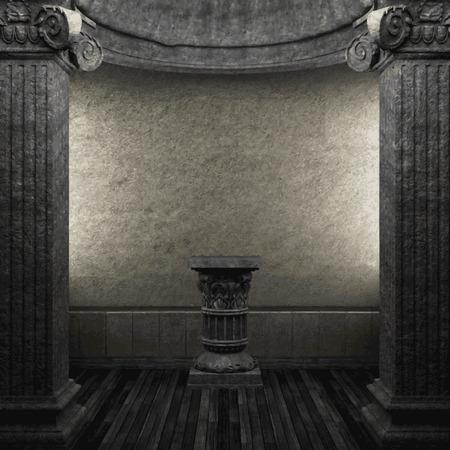 zuilen: vector stone columns and pedestal Stock Illustratie