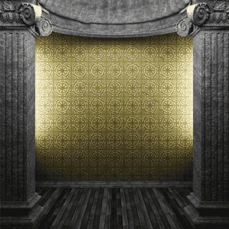 zuilen: vector stone columns and tile wall