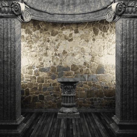 vector stone columns and pedestal Illustration