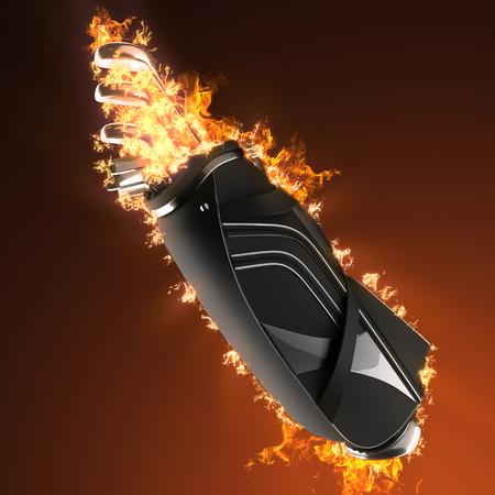 driver cap: Golf clubs drivers in fire