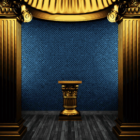 pilaster: vector golden columns and arch Illustration
