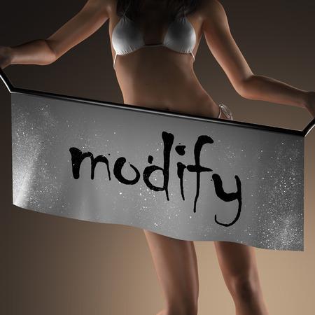modificar: modificar la palabra en banner y mujer bikiny