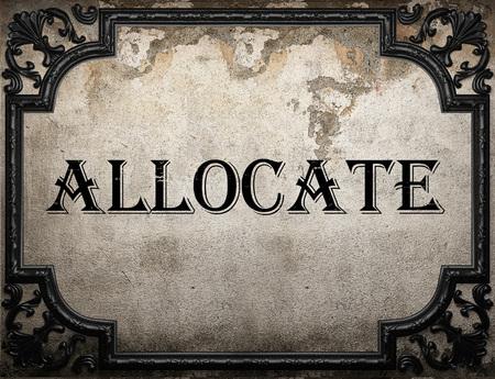 allocate: allocate word on concrette wall