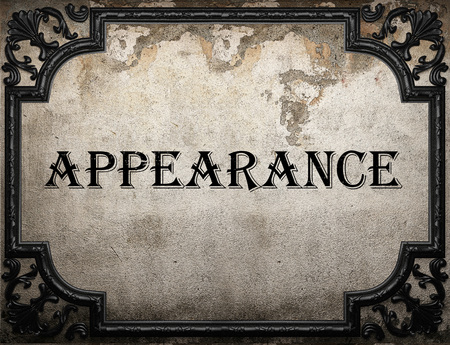appearance: appearance word on concrette wall