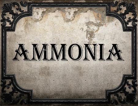 ammonia: ammonia word on concrette wall