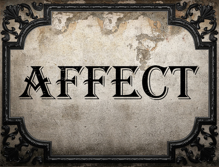 affect: affect word on concrette wall