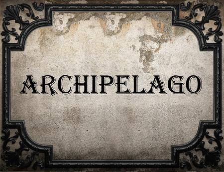 archipelago: archipelago word on concrette wall