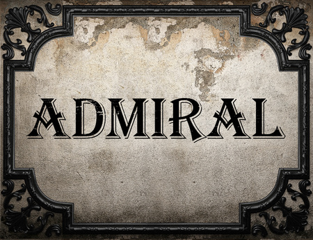 admiral: admiral word on concrette wall