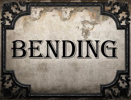 bending: bending word on concrette wall