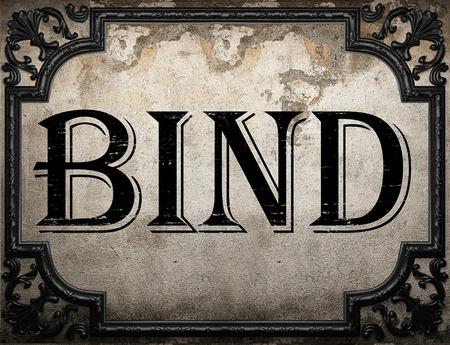 bind: bind word on concrette wall