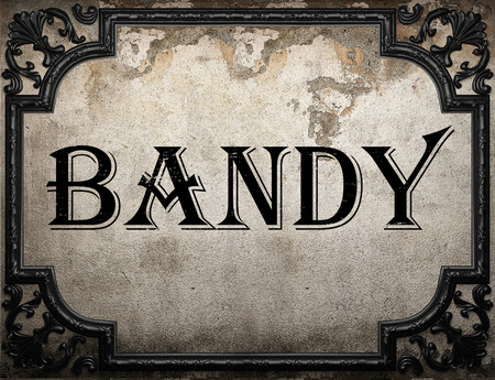 bandy: bandy word on concrette wall Stock Photo