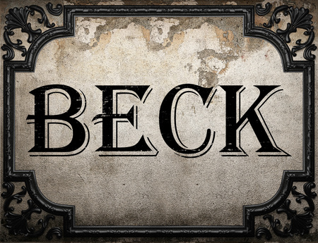 beck: beck word on concrette wall Stock Photo