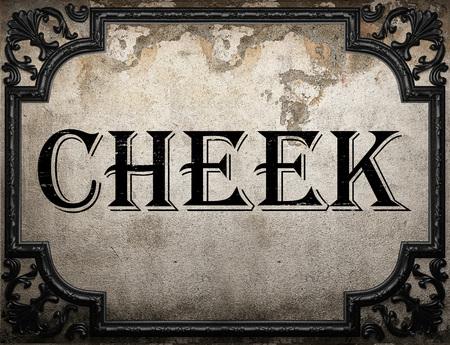 cheek: cheek word on concrette wall Stock Photo