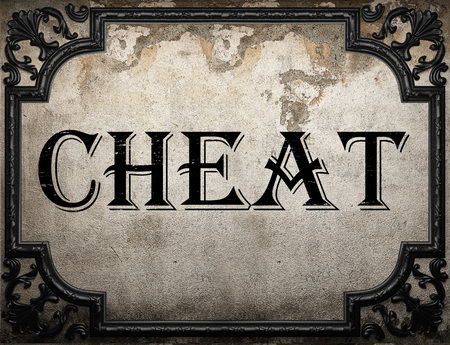 cheat: cheat word on concrette wall Stock Photo