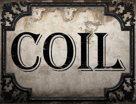 bobina: palabra de la bobina en la pared concrette