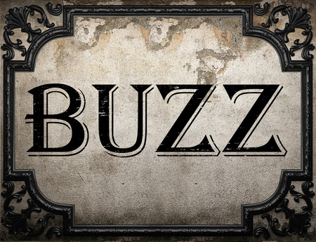 buzz word: buzz word on concrette wall Stock Photo