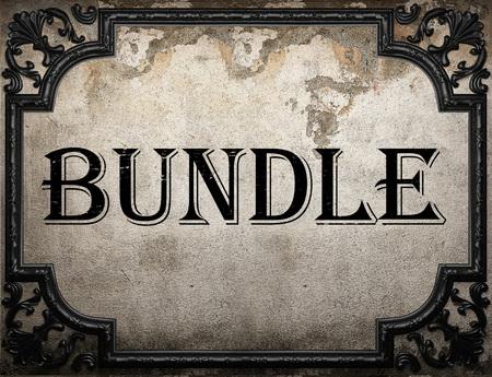 bundle word on concrette wall