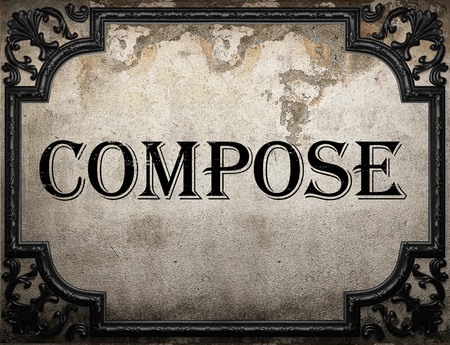compose: compose word on concrette wall