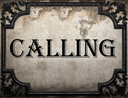 llamando: llamando palabra en la pared concrette
