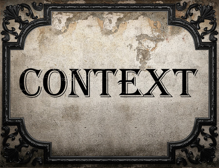 context: context word on concrette wall Stock Photo