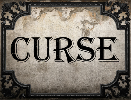 curse: curse word on concrette wall