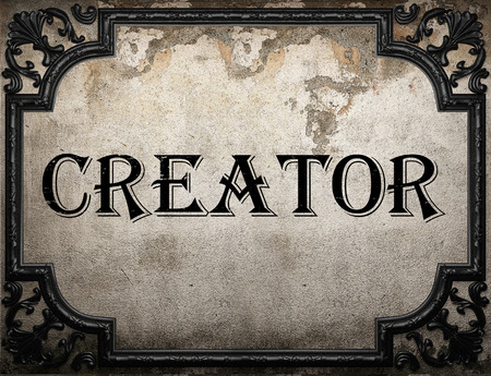 creator: creator word on concrette wall Stock Photo