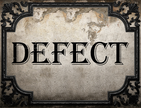 defect: defect word on concrette wall