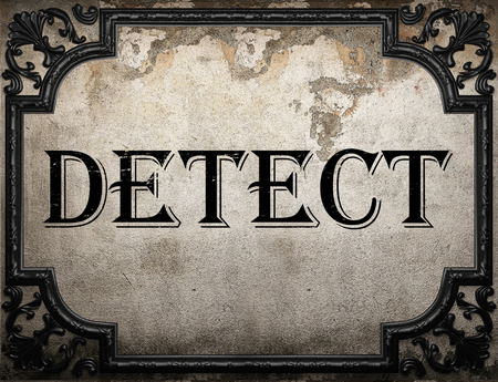 detect: detect word on concrette wall
