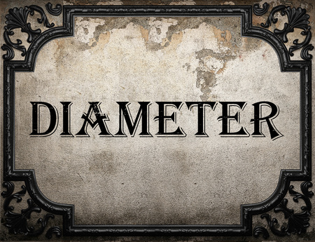 diameter: diameter word on concrette wall Stock Photo