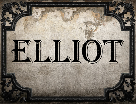 elliot: Elliot word on concrette wall