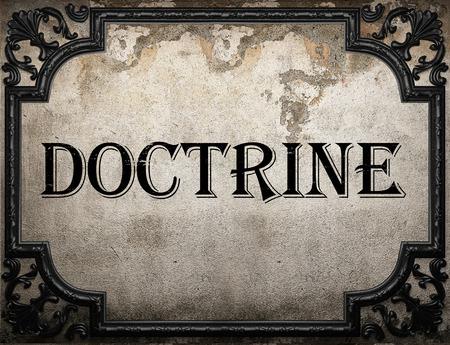 doctrine: doctrine word on concrette wall
