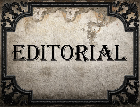editorial: editorial word on concrette wall
