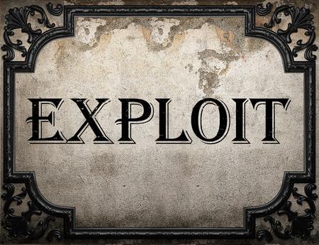exploit: exploit word on concrette wall