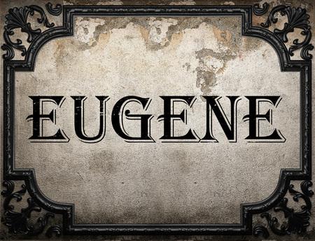 eugene: Eugene word on concrette wall