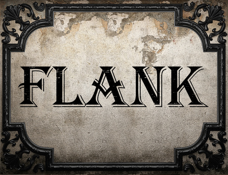 flank: flank word on concrette wall