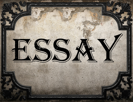 essay word on concrette wall