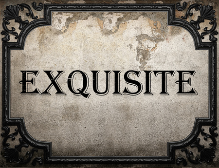 exquisite: exquisite word on concrette wall