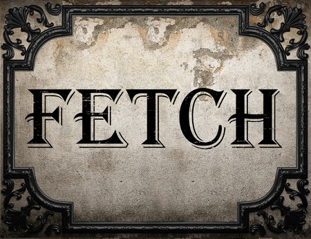 fetch: fetch word on concrette wall