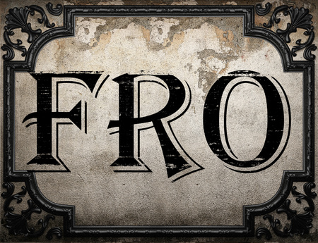 fro: fro word on concrette wall
