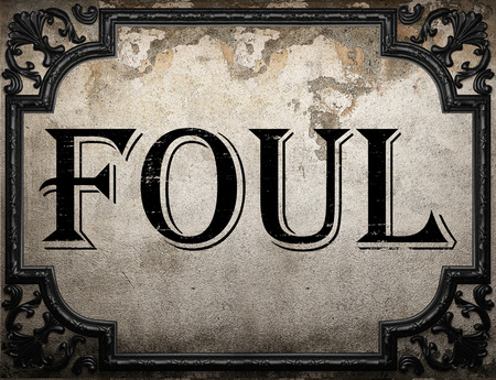 foul: foul word on concrette wall